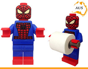 3D print model Lego Spider Man Toilet Roll Holder Bathroom