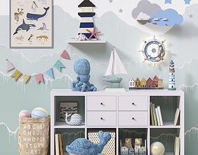 Toys and furniture set 48 3D