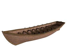 3D model Ships Longboat