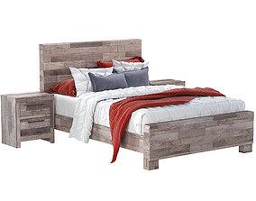 Effie Queen Panel Bed 3D