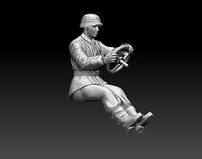 officer 3D printable model german driver soldier