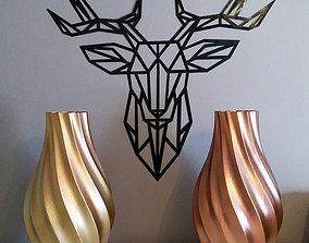 3D printable model Modern twisted vase