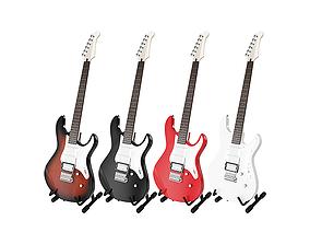 Electric Guitar Yamaha Pacifica 012 BLENDER 3D Model