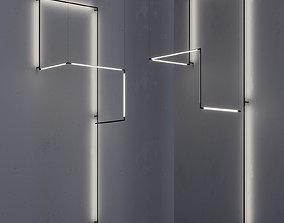 GROK modular light TUBS9 3D asset