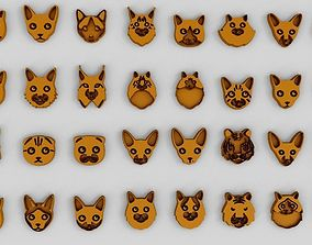 Sweet Cat Faces 3D print model