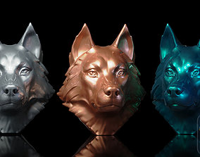 anatomy Husky Head 3D print model