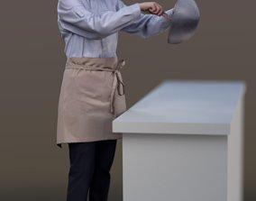 Ulrike 10142 - Standing Cook 3D asset