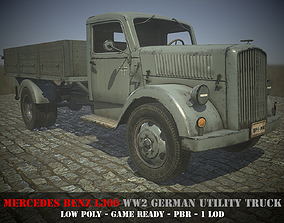 3D model Mercedes Benz L3000 - WW 2 German Truck - Game 2
