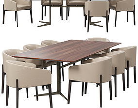 3D model Bodema Peggy armchair and Blake table
