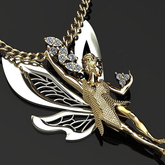 Ballerina Butterfly pendant