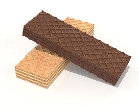 3D model Wafer Biscuits