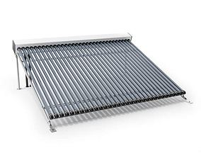 Light Silver Solar Collector 3D model