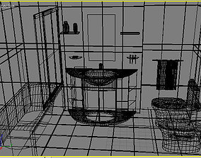 Useful bathroom - 3d model