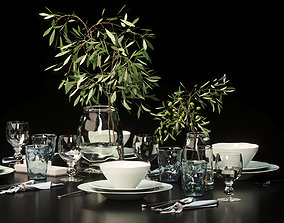 3D model Table setting ceramics