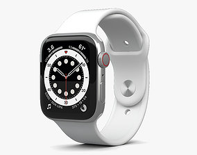 3D Apple Watch Series 6 44mm Stainless Steel Silver