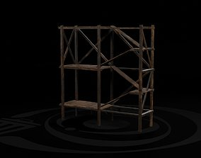 AAA Wooden Enterable Medieval Primal Watchtower 3D asset 2
