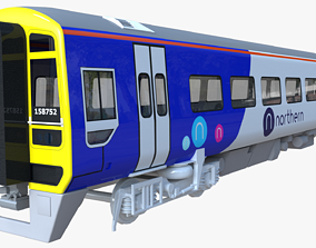 British train class 158 railway 3D model