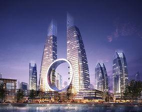 3D City Scene 001