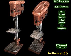 3D model Drill Press - PBR - Textured
