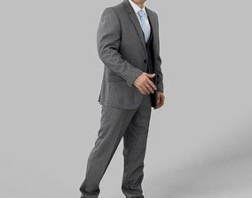 Francis Elegant Business Man Walking 3D model