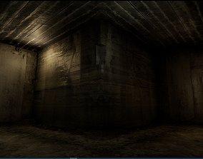 3D asset Old Concrete Wall 01 04