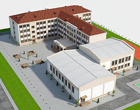 3D asset High School