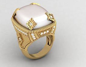 3D print model cabochon STONE RING