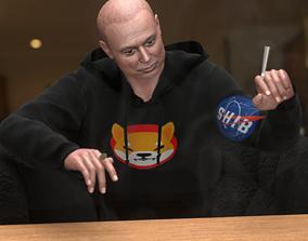 Elon musk Rigged 3d model animated