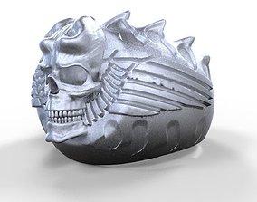 3D print model Skull Ring 3