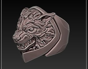 WOLF RING 3D printable model hound