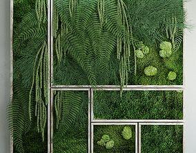 Moss and fern fytowall 3D model