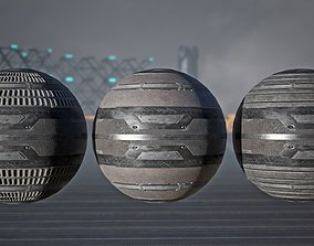 3D model VR / AR ready Sci Fi - metal flooring - PBR