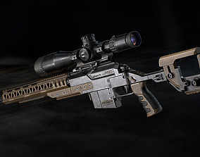 realtime PMS aKrapovS4 Sniper Rifle - Model and Textures