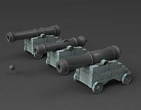 3D model Naval Cannons