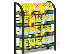 Market Rack 3D Model - Chips