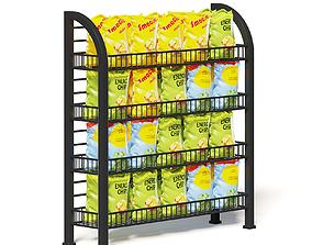 Market Rack 3D Model - Chips