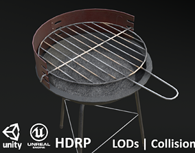 Barbecue Small - Dirty 3D asset