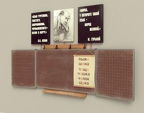 3D model Old Blackboard