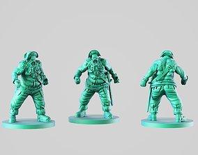 Bold zombie 3D printable model