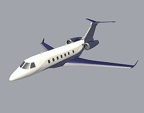 Embraer Legacy 500 private jet 3D