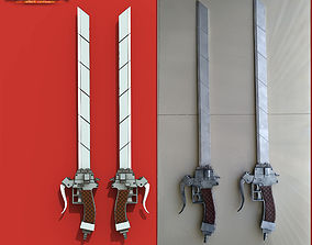 Sword anime Attack on Titan 3D printable model
