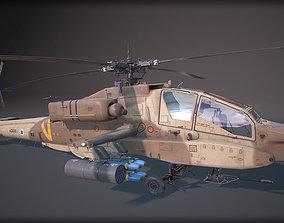 AH-64A Apache 3D asset VR / AR ready