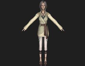 LowPoly Russian Women 3D model