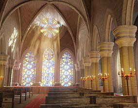 3D asset Church cathedral