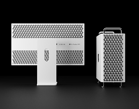 3D Apple Mac Pro and Pro XDR Display Bundle Collection