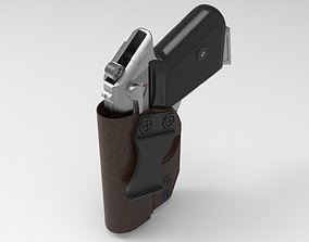 3D Walther PPK with holster