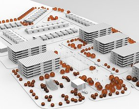 residential area urban planning project 3D asset