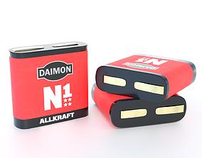Battery square 3R12 3D asset
