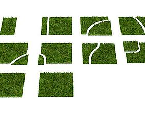 3D model Pieces Of Grass For Landscaping