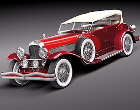 Duesenberg SJ Convertible 1932 3D model
